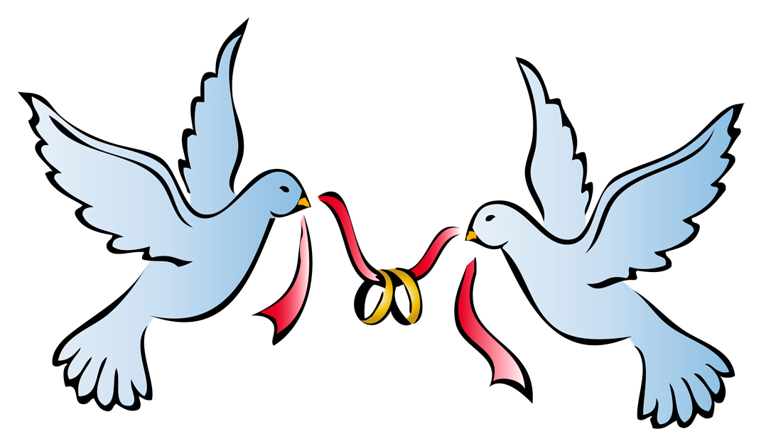 1071x628 Clipart Dove Wedding