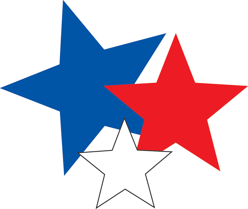 1000x844 Red White And Blue Stars Clipart