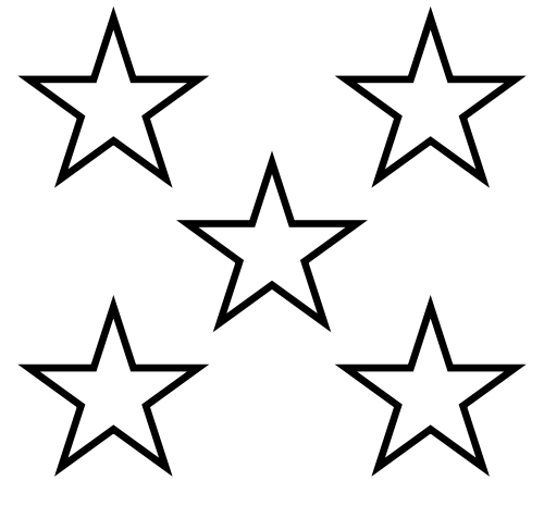 500x464 Star Black And White 5 Stars Clip Art Library