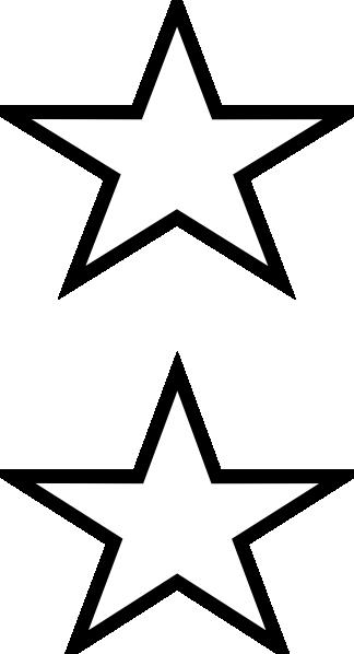 324x598 White Stars Clip Art