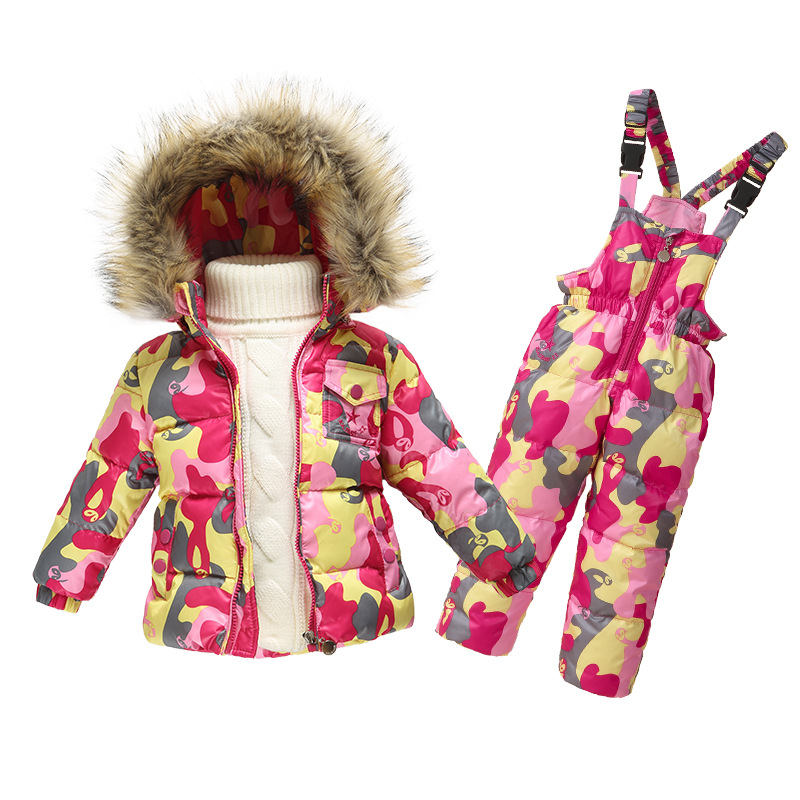 6bff023c1 800x800 Children Winter Clothing Set Boys Ski Suit Girl Down Jacket Coat +