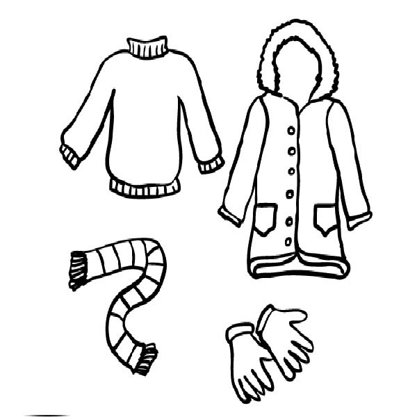 Pictures Of Winter Clothes For Kids Free Download On