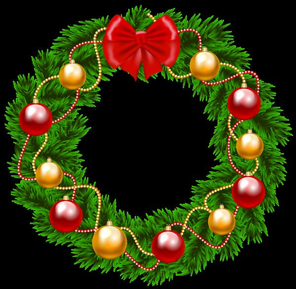 600x587 Christmas Wreath Png Clipart Image Christmas