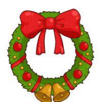 200x200 Christmas Wreaths Clipart