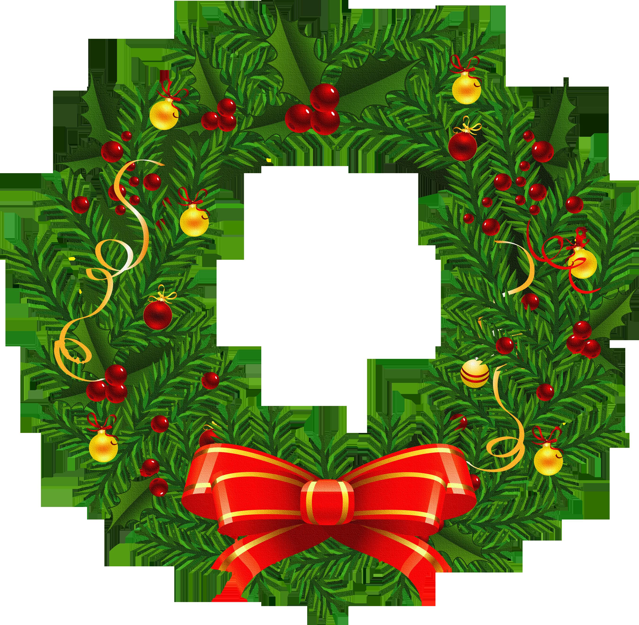 2700x2642 Christmas Wreaths Clipart