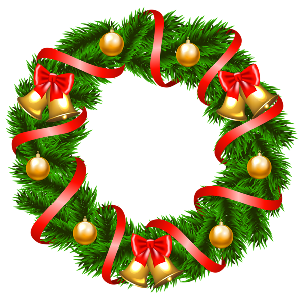600x592 Decorative Christmas Wreath Png Clipart Image