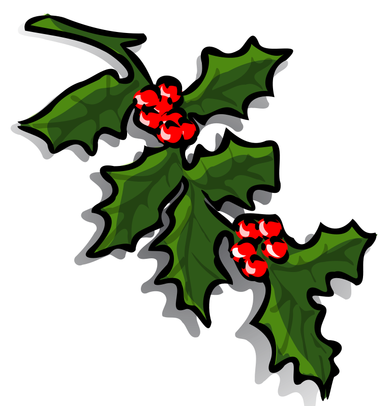 769x800 Graphics Of Christmas Wreaths And Holly Sprigs