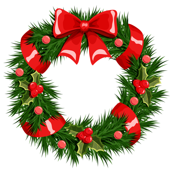 600x593 Transparent Christmas Wreath Png Clipart Printibles Christmas