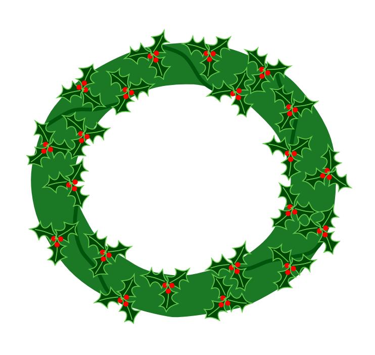 742x702 Wreath Holly
