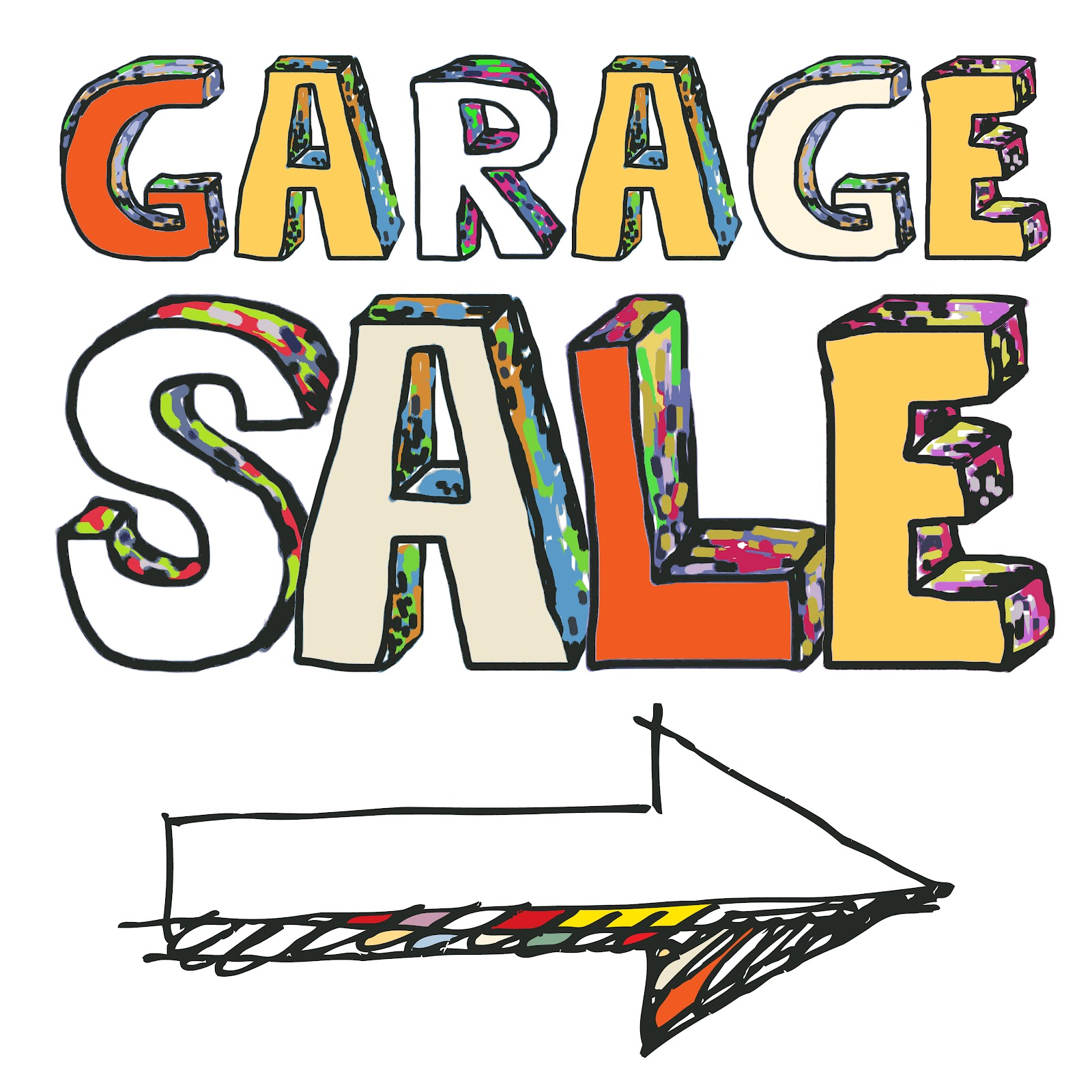 1600x1600 Garage Sale Yard Sale Flyers Clipart