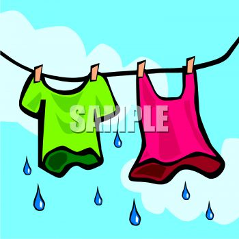 350x349 Clothes Hanging On A Clothes Line Dripping Wet
