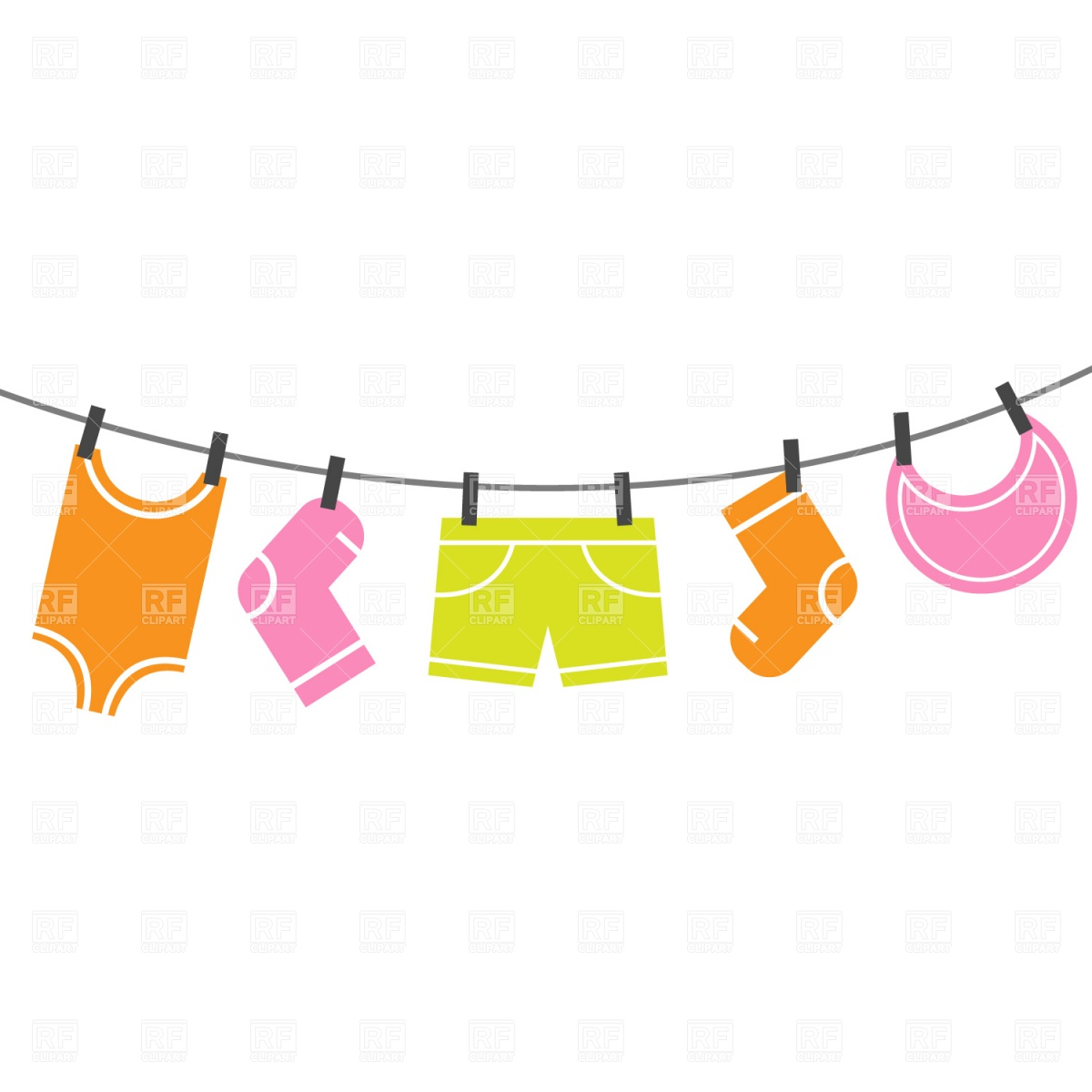 1200x1200 Clothes Line Clipart