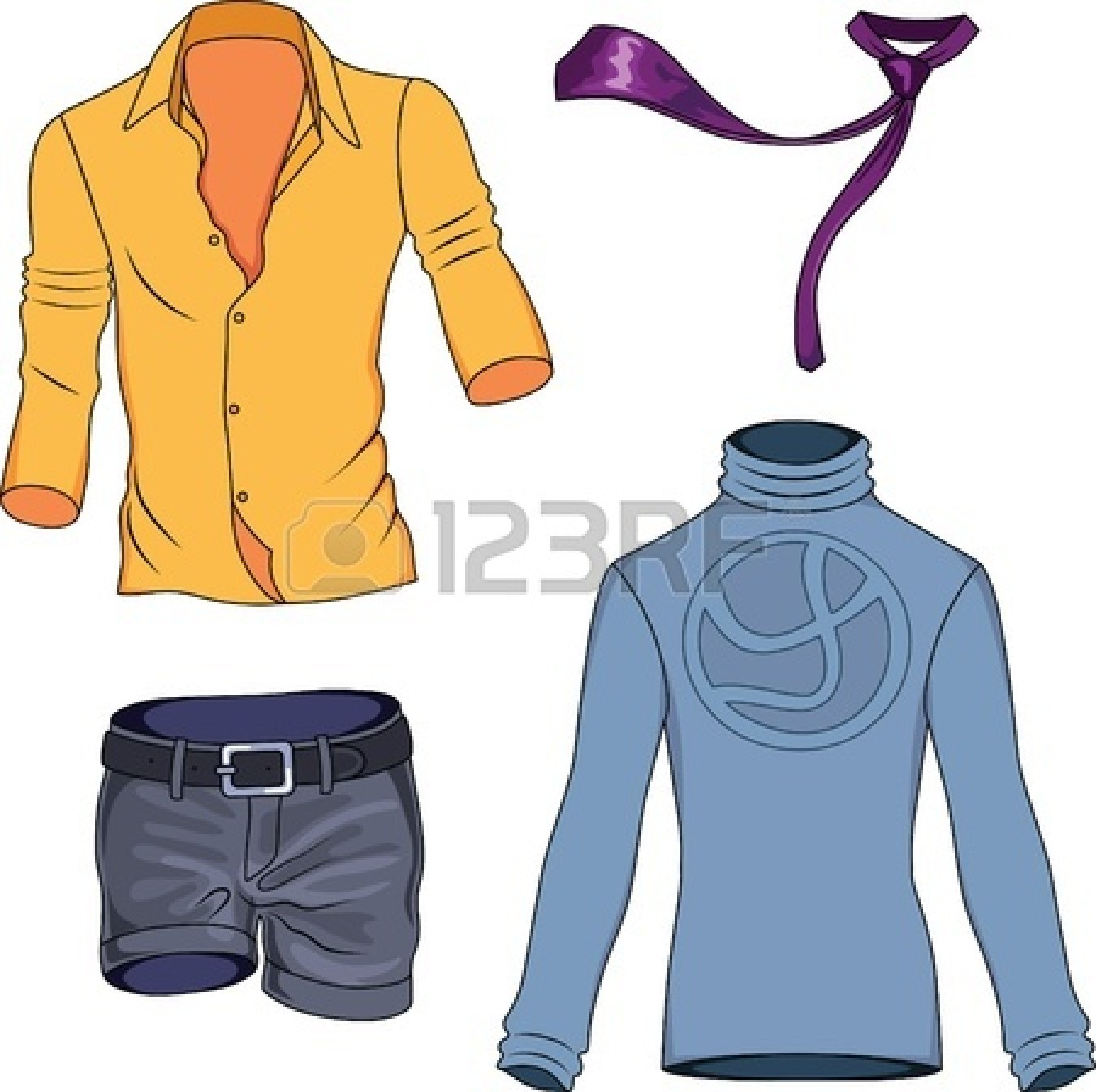 1350x1344 Men Clothes Clipart
