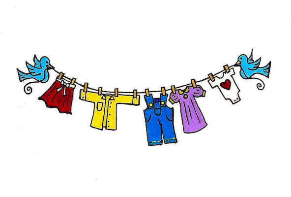 592x400 Uniform Clipart Clothes Line