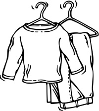 200x223 Clip Art Of Clothes On Hangers Clipart Panda