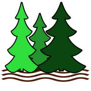 300x300 Pine Tree Stream Clipart