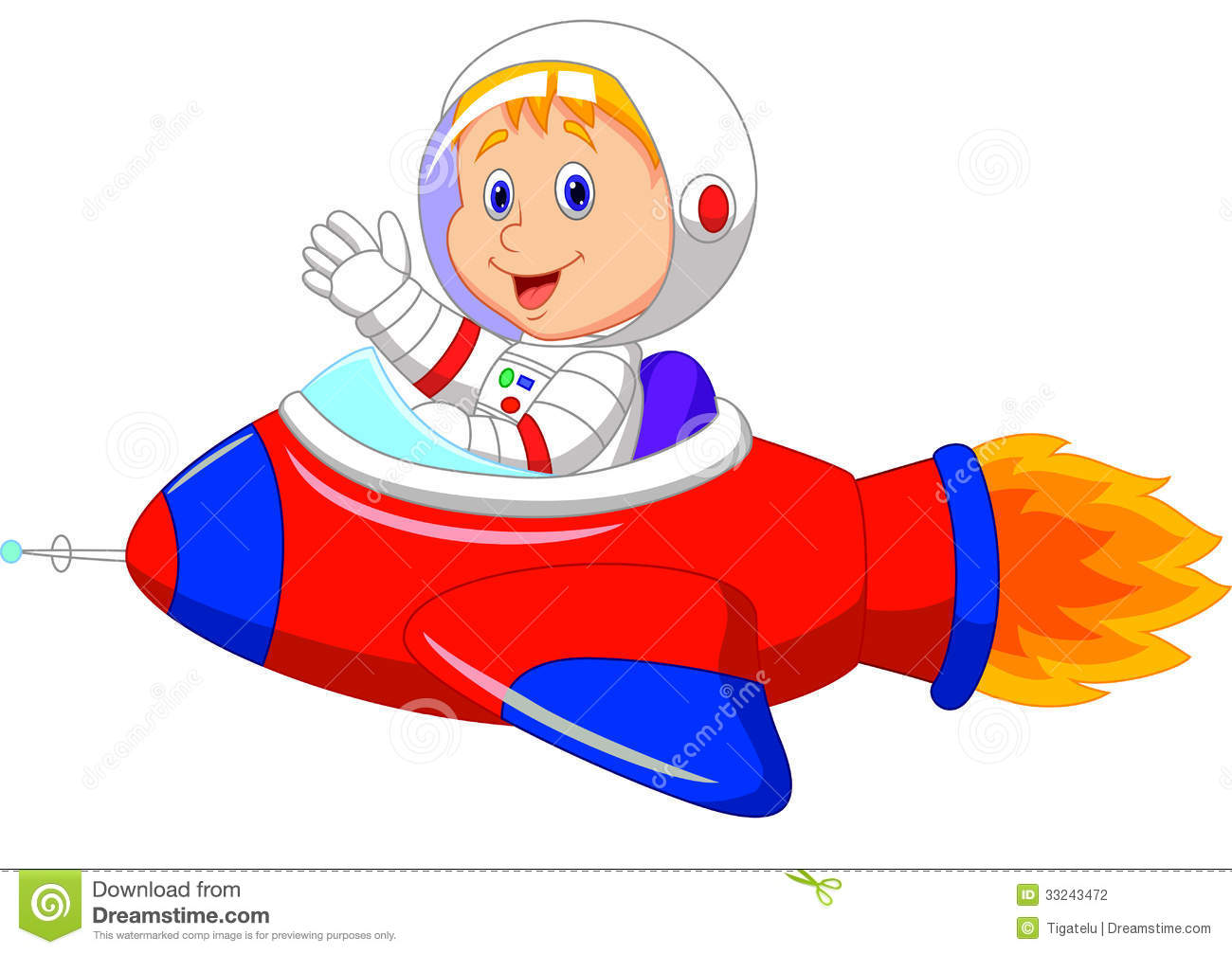 1300x1007 Cartoon Boy Astronaut In The Spaceship Stock Photography Baby