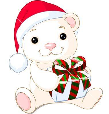 380x400 Christmas Teddy Bears Clip Art Cliparts