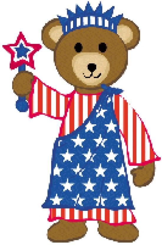 550x831 Patriotic Teddy Bear Clip Art Patriotic Clipart