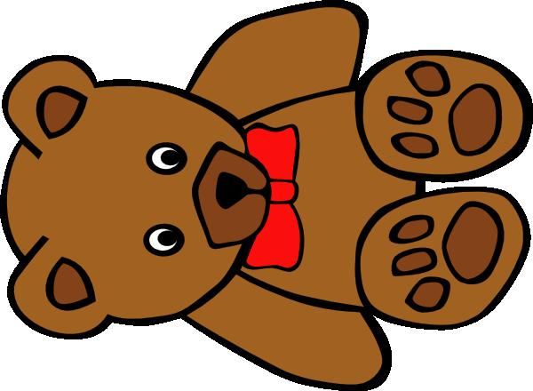 600x440 Teddy Bear With Bow Clip Art