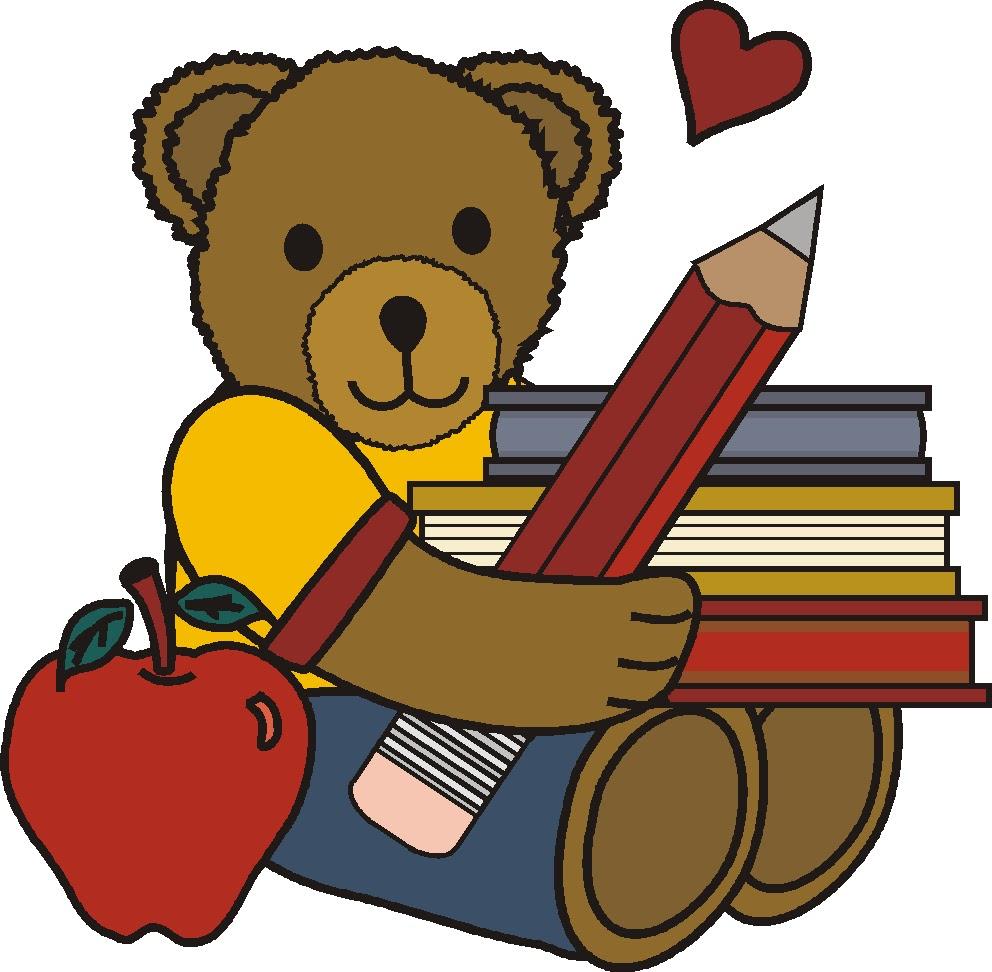 992x972 Teddy Bear Clipart School
