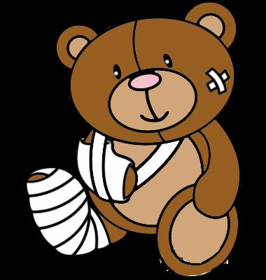 380x400 Teddy Bear Clipart Sick