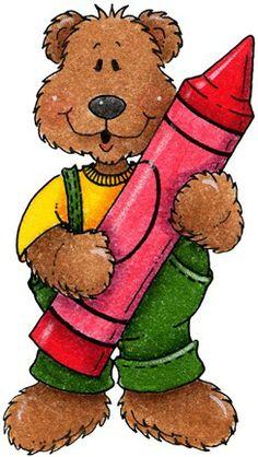 236x418 Clipart Decpoupage Abc Teddy Bear Schoolteacher Clip Art