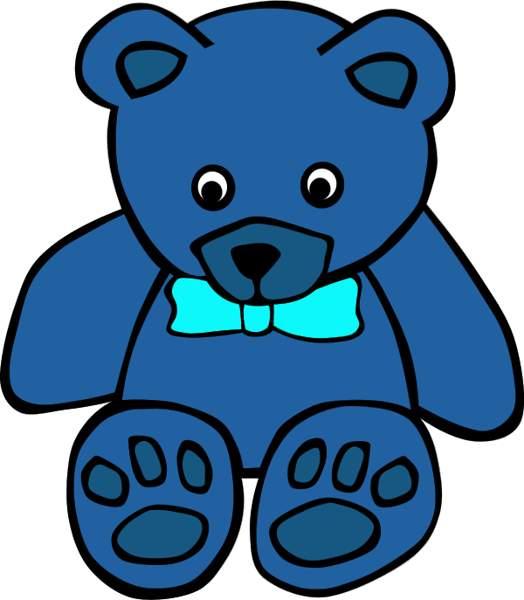 524x600 Bear Clipart Blue