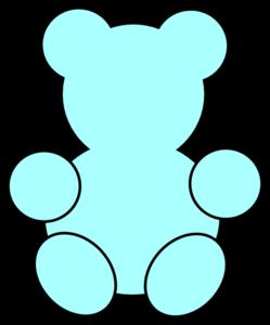 249x300 Blue Teddy Bear Clip Art