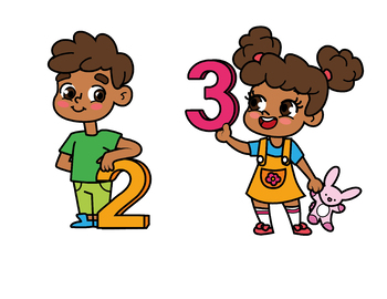 350x270 Kids With Numbers, Kids Holding Numbers Clipart 0 To 10 Tpt