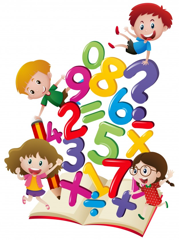626x838 Many Children With Numbers In The Book Vector Free Download