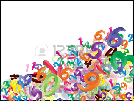 450x340 Set Of Cartoon Numbers, Digits With Eyes. Funny, Cheerful