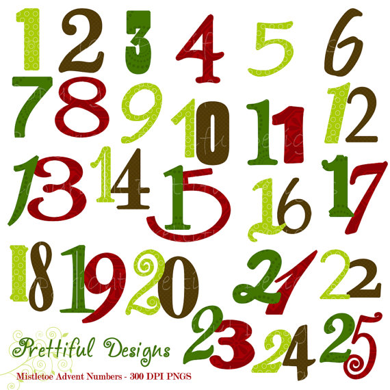 570x570 Christmas Numbers Clipart