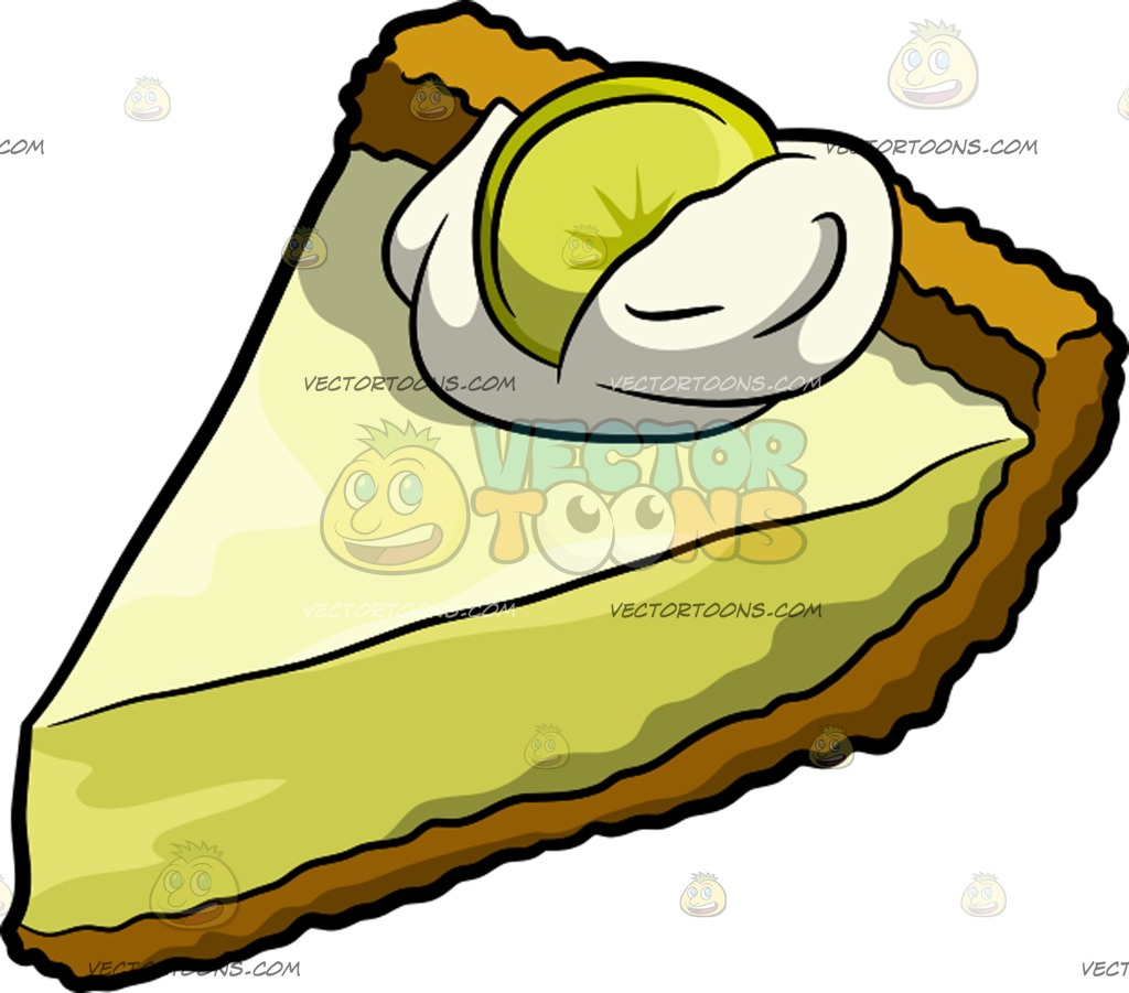 1024x901 A Slice Of Key Lime Pie Cartoon Clipart