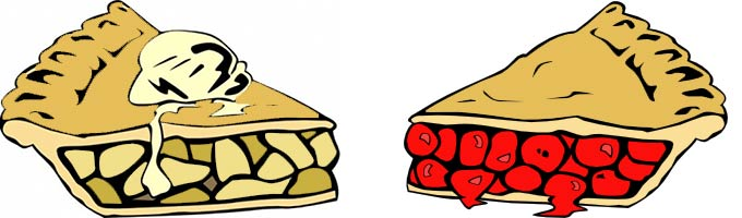 680x200 Pie Slice Clipart