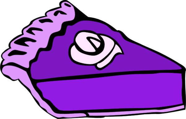 600x386 Pie Clipart Purple