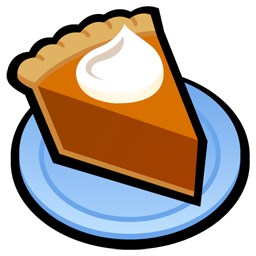 256x256 Pumpkin Pie Clipart