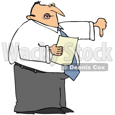 400x400 Free (Rf) Clipart Illustration Of A Disappointed Male Boss Holding