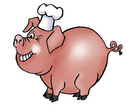 Pig Bbq Cartoon