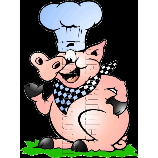 600x600 Chef Pig Bbq Mascot Logo