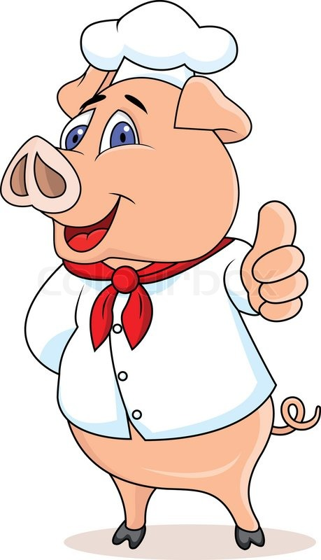 459x800 Pig Chef Cartoon Stock Vector Colourbox