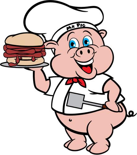 442x500 Pork Clipart Pig Bbq