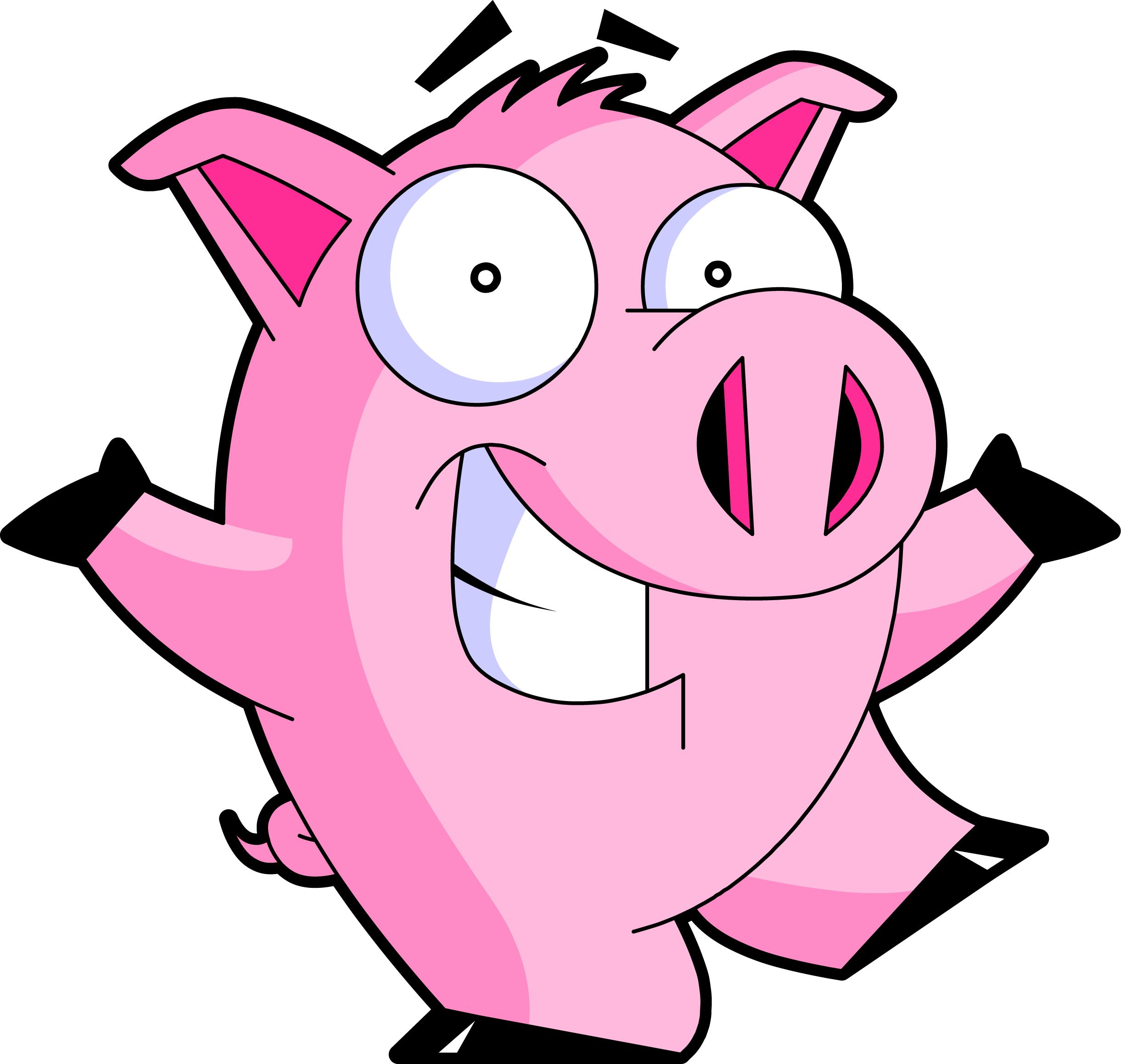 2442x2319 Cartoon Pig Clipart