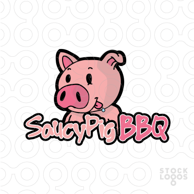 400x400 Exclusive Customizable Logo For Sale Saucy Pig Bbq