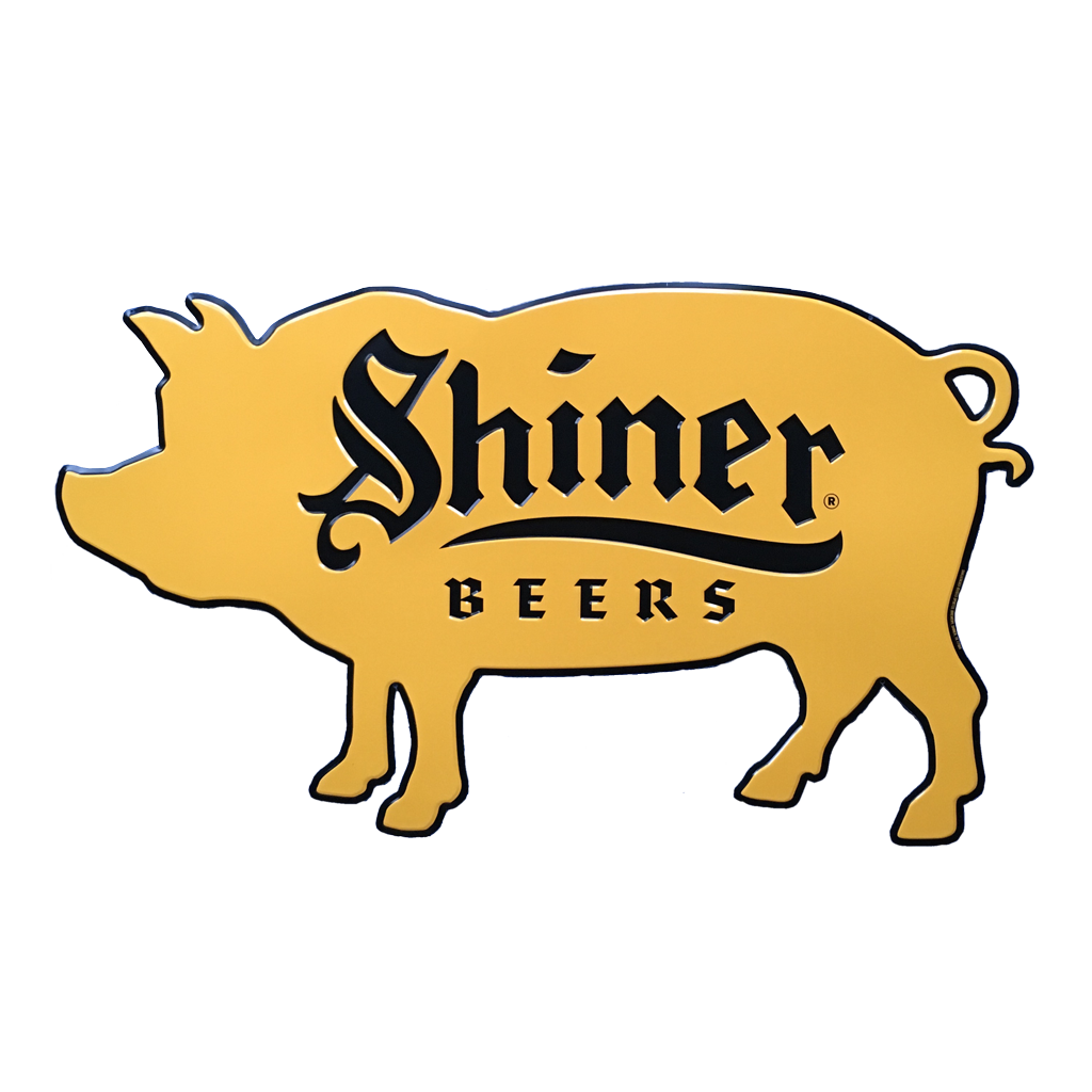 1024x1024 Shiner Beers Pork Bbq Die Cut Sign Shiner Store