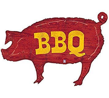 355x319 Pig Shaped Bbq 35 Mylar Balloon Kitchen Amp Dining
