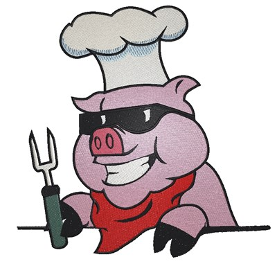 400x384 Bbq Pig Embroidery Designs, Machine Embroidery Designs