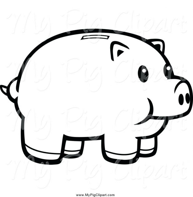 618x630 Cartoon Pig Outline Drawing Template Pigeon Sketch Guinea Pig