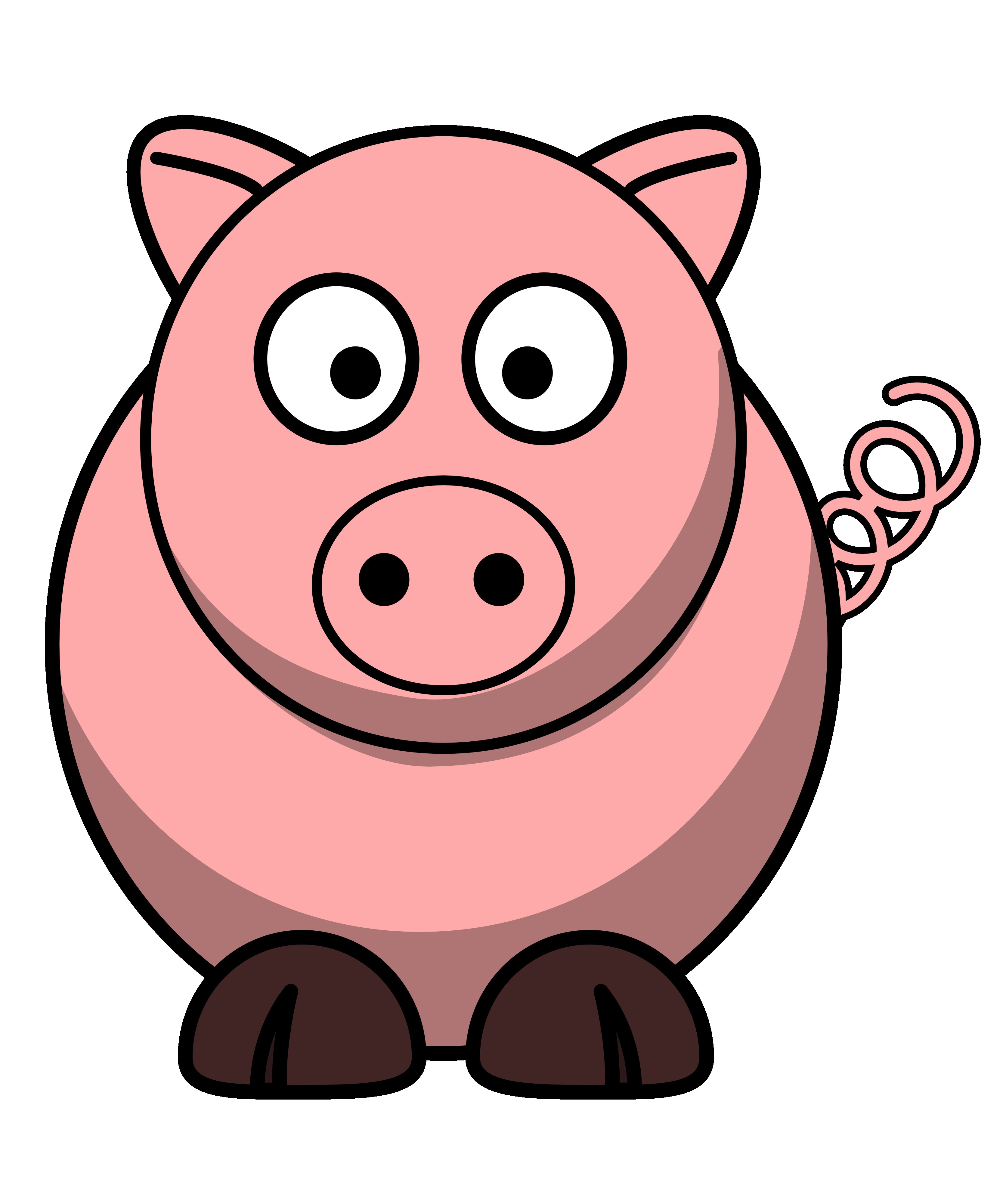 3333x4000 Cute Pig Black And White Clipart