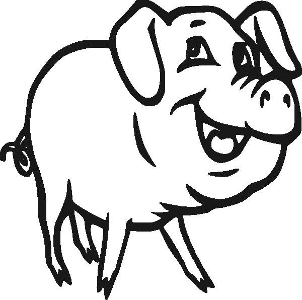 600x596 Pig Black Pig Clip Art